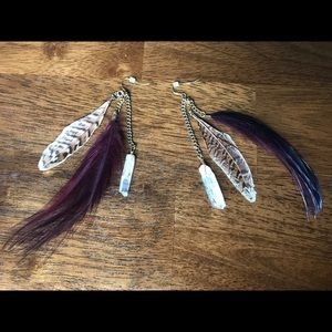 Urban Outfitters Jewelry - Feather Earrings
